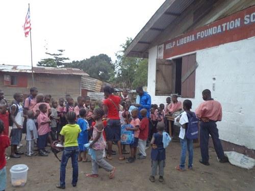 Children at school on day one