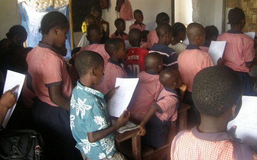 Cross section of kids at the program