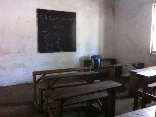 Interior view of one of the classrooms in our school (photo by Kerstin and Roland)