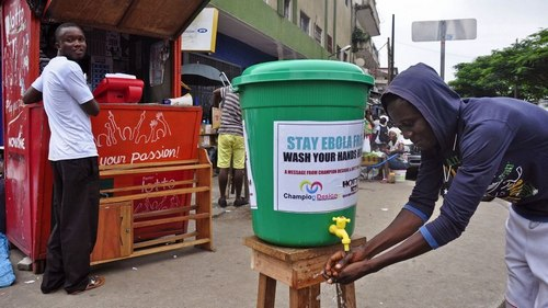 Washing hands regularly helps to prevent the spread of Ebola