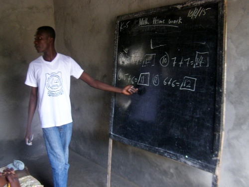 Franklin (teacher) teaching in one of the classrooms
