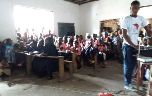 A cross-section of the students during the program