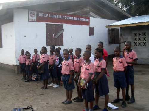Children outside the school