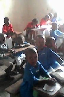 Kindergarten students in class at the school