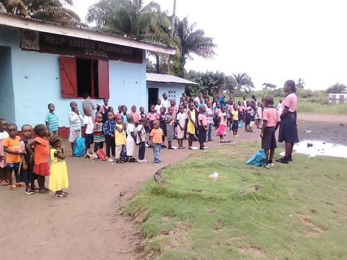 Children outside school 2