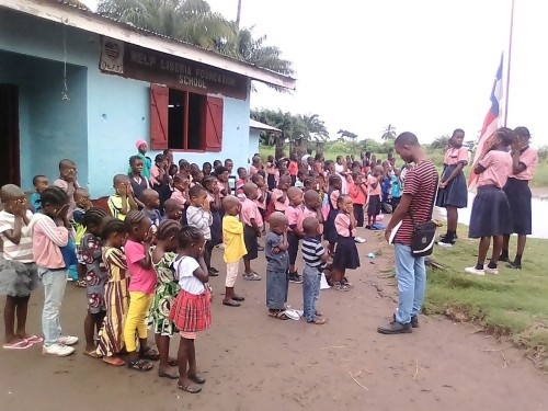 Children outside school 3