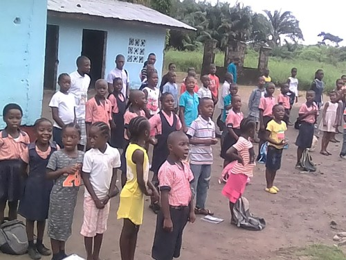 Children outside school 4