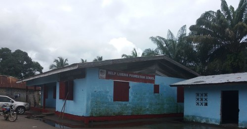 The repainted school buildings