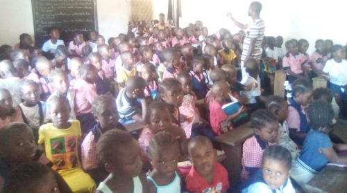 Students at the chapel program 1