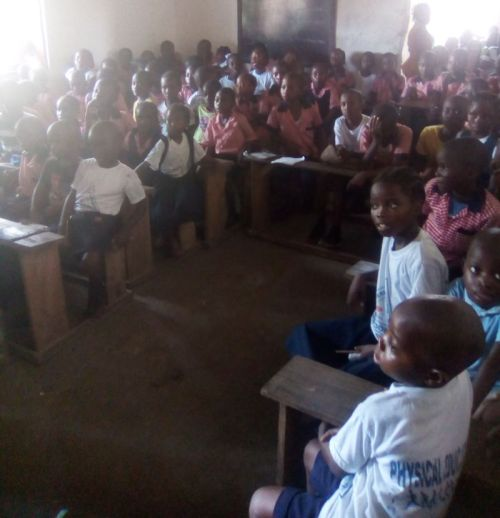 Students at the chapel program 2